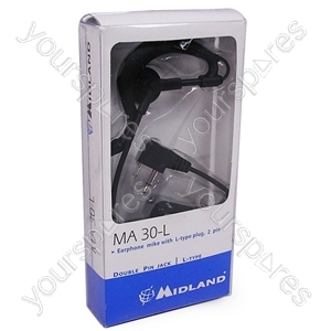 Two Way Radio Headset Earphone with Boom Microphone - MA30-L from midland