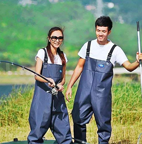 Morebeauty Women Chest Wader with Cleat Sole Waders Waterproof Pants Trousers Fishing Pants (41) from morebeauty