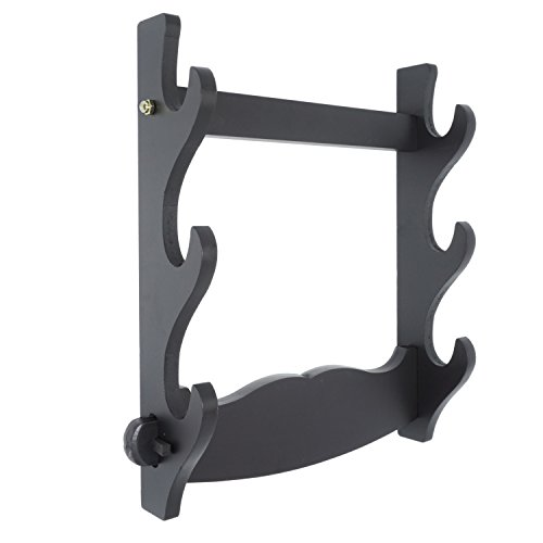 Japanese Wall Mount Samurai Sword Katana Holder Stand Hanger Bracket Rack Display 3 Layer from Moumou