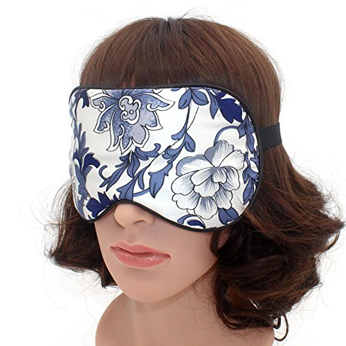 Eye Mask - Best Natural Pure Mulberry Silk Sleep Mask Super Soft Eye Mask for for Men & Women (Floral) from nadamuSun