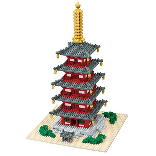 nanoblock NB031 5 Story Pagoda Building Set from nanoblock