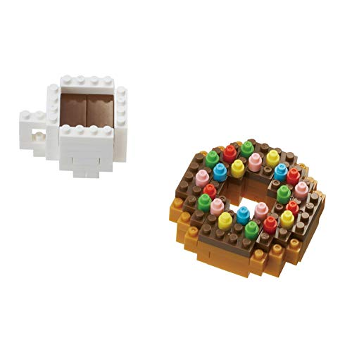nanoblock NBC246 Donut and Coffee Toy, Multi-Colour from nanoblock