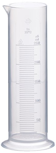 Neolab 4037 Measuring Cylinder, Low Form, 250 ml – 10 ml – Polypropylene – Round Base from neoLab