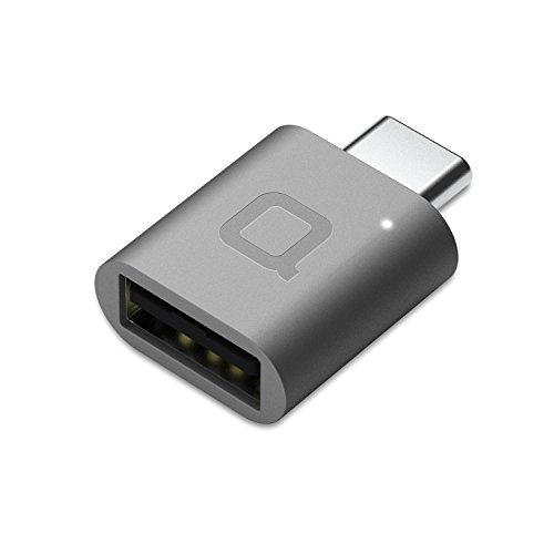 nonda USB Type C to USB 3.0 Adapter, Thunderbolt 3 to USB Adapter Aluminum with Indicator LED for MacBook Pro 2019/2018, MacBook Air 2018, Pixel 3, Dell XPS and More Type-C Devices (Space Gray) from nonda