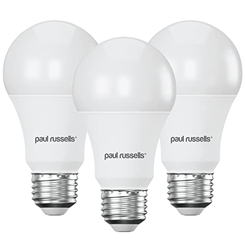 3 Pack 12W GLS LED Light Bulbs E27 ES Edioson Screw Paul Russells Bright 12W=100W A60 Globe 270 Beam Lamp 4000K Cool White 100W Incandescent Replacement from paul russells
