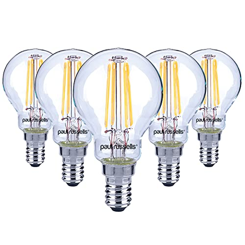 5 x 2W / 4W G45 E14 Mini Globe LED Filament Bulb Warm White 2700K Small Screw Cap sES LED Antique Clear Golf Ball Bulb 25W / 40W Incandescent Equivalent Lamps from paul russells