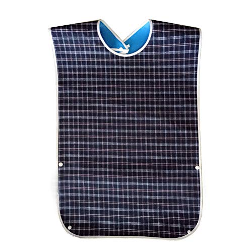 pengxiaomei Adult Bibs,Adult The Eldly Bib Adult Washable Dining Bibs for Elderly Blue from pengxiaomei