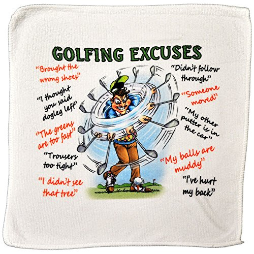 Golf Excuses Microfibre Cleaning Cloth - Perfect for cleaning Golf Balls and Golf Clubs - Makes an Ideal Gift from personalised4u
