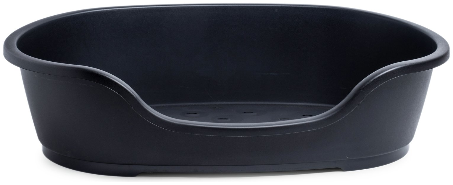 Petface Black Plastic Dog Bed - Large from petface