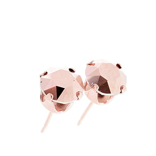 pewterhooter Rose Gold stud earrings expertly made with sparkling Rose Gold crystal from SWAROVSKI®. from pewterhooter