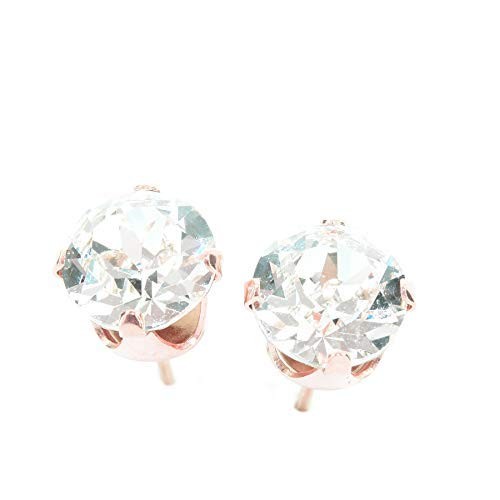 pewterhooter Rose Gold stud earrings expertly made with sparkling crystal from SWAROVSKI®. from pewterhooter