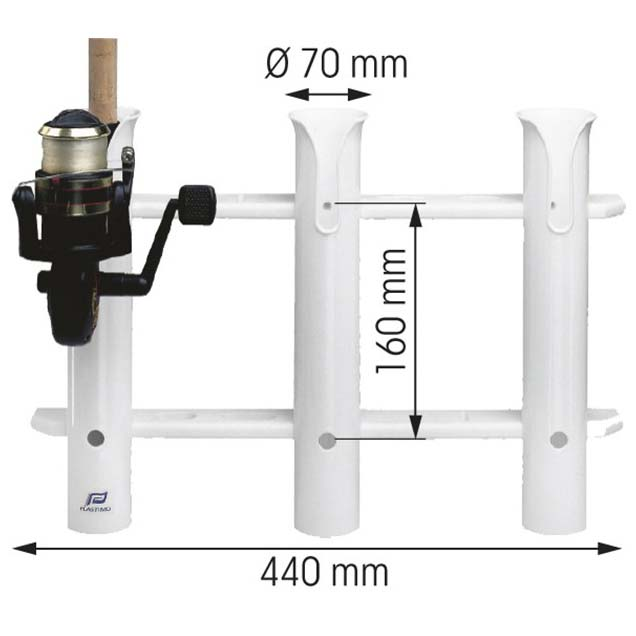 Bulkhead Mount Storage Rack For 1 Rod from plastimo