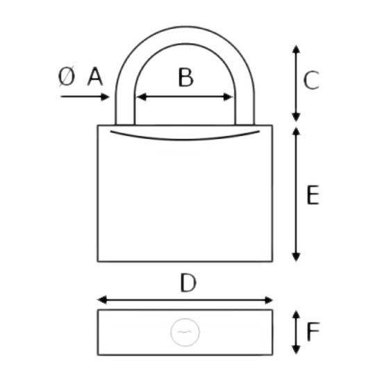 Padlock Shackle from plastimo