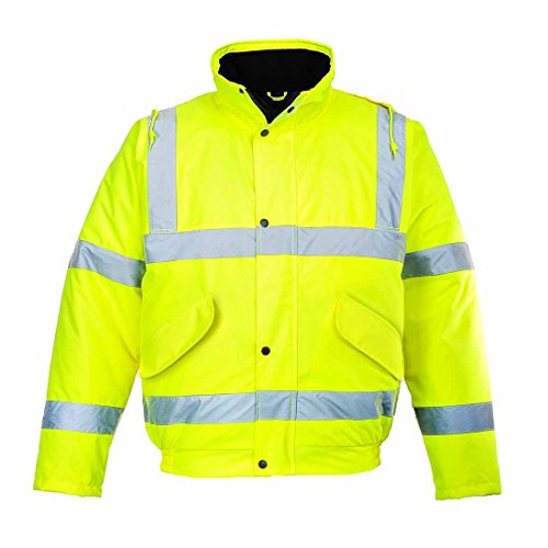 HI VIZ High visability portwest s463 BOMBER JACKET COAT YELLOW (XL) from Portwest