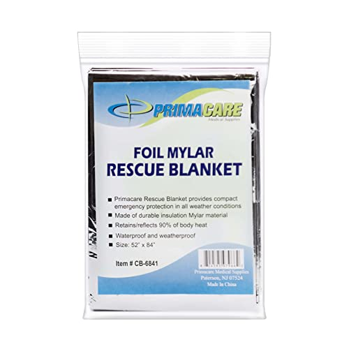 Primacare Mylar Foil Rescue Blanket Pack of 10 from Primacare