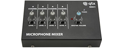 Mini Microphone Mixers | 4 Channel from qtx