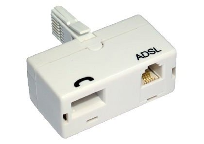 rhinocables® ADSL Filter Standard Type White BT Telephone adaptor from Rhinocables