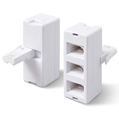 rhinocables® BT treble telephone Phone socket 3 way Adapter Splitter from Rhinocables