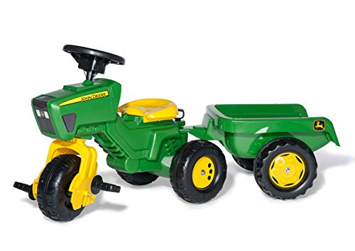 rolly toys S2605276 52769 Franz Cutter John Deere Pedal Tractor with Sound and Trailer from rolly toys