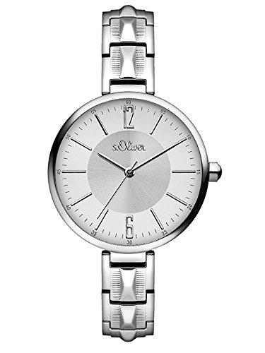 s.Oliver Women's Quartz Watch Analogue Display and Stainless Steel Strap SO-3088-MQ from s.Oliver