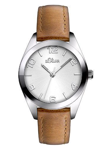 S.Oliver Women's Analogue Quartz Watch with Leather Strap – SO-2771-LQ from s.Oliver