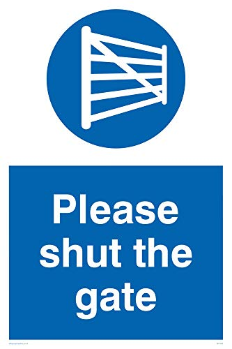 "Viking Signs MV1400-A2P-AC ""Please Shut The Gate"" Sign, Aluminium Composite, 600 mm H x 400 mm W from Viking Signs"