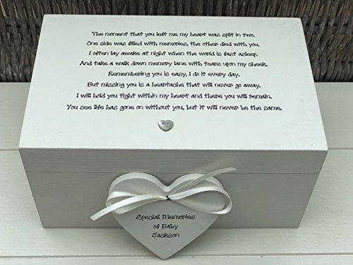 PERSONALISED Shabby Chic ~ Memory Box ~ LARGE Keepsake Box In Memory of a BABY ~ Loss of Baby/Child Son ~ Daughter ~ ANY NAMES Bereavement Loss from shabby chic personalised ltd