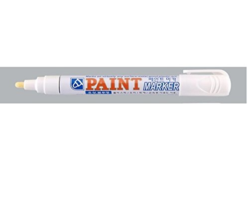 2 White Permanent Marker by Crown CAR TYRE TIRE Metal Paint Pen Marker from smco