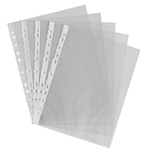 A4 Polypropylene Clear Plastic Punched Pockets Folders Filing Wallets Sleeves from smco