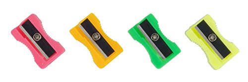 Qty 20 SMCO Plastic Pencil Sharpeners 4 Assorted Colours from smco