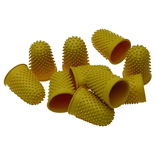 Quality Thimblettes Rubber Thimblette Yellow Size 2 20mm Finger Cone Thimble from smco