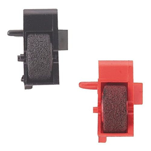 SMCO Ink Roller FOR Sharp EL1607P 1195L 2192 2195L 2901C PR640 1 x Black 1 x Red from smco