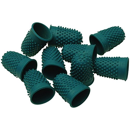SMCO Quality Flexible Rubber Thimblette Green Size 0 16mm Finger Cone Thimble (1) from smco
