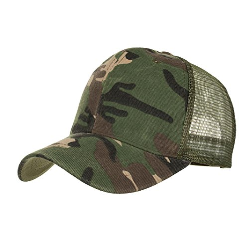 squarex Camouflage Summer Casual Mesh Hats For Men Women Hip Hop Baseball Caps (Army Green) from squarex