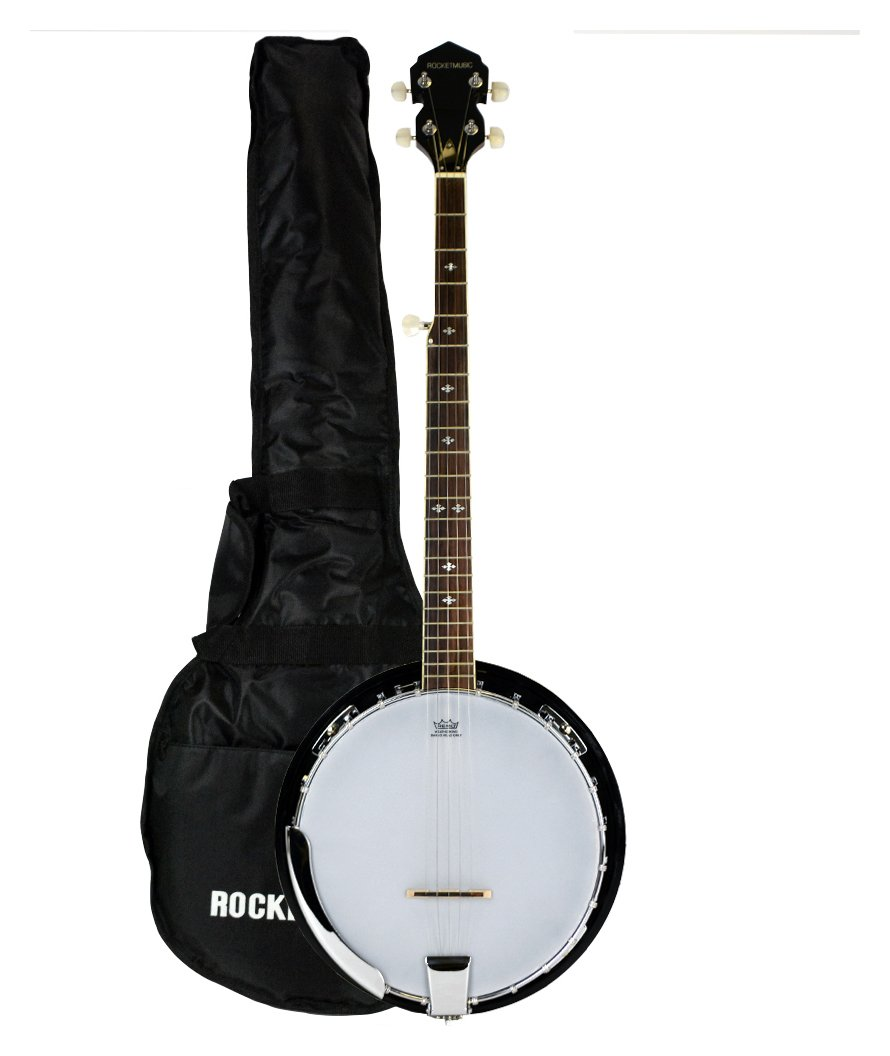 Rocket Deluxe 5 String Banjo with Bag. from Stagg