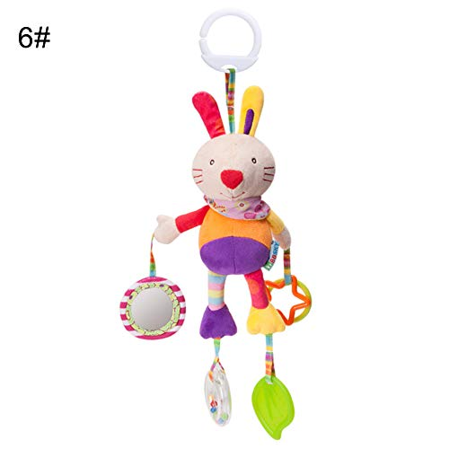 strimusimak Baby Hanging Rattle Teether Toy Infant Cute Plush Animal Hand Bell Stroller Crib 6# from strimusimak