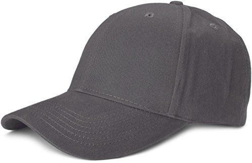 brand new 68524 26183 styleBREAKER Classic 6 Panel Cap with Brushed Surface, Adjustable 04023018,  Color Anthracite from