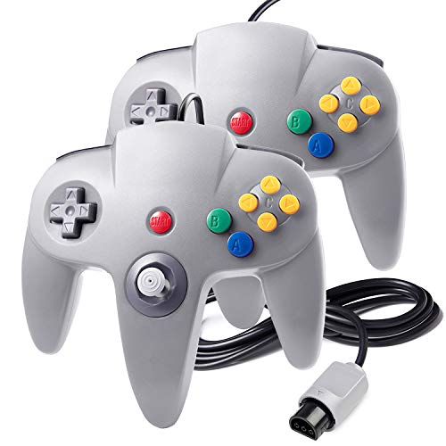 2 Pack Game Controller for N64, suily Classic Wired Gamepad Joypad for N64 System from suily