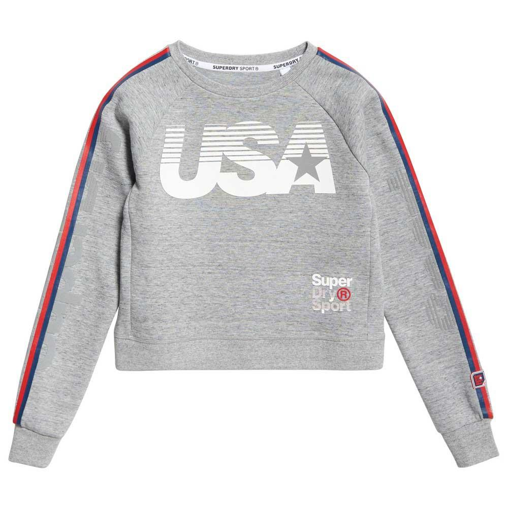 Sweatshirts and Hoodies Gym Tech Usa Crop Crew from Superdry