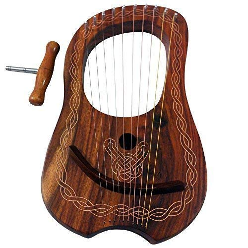 Lyre Harp 10 Metal Strings Rosewood/Lyra Harp Rosewood 10 Strings Free Case from TC