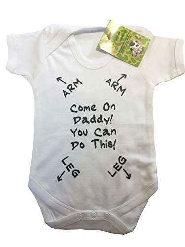 Come On Daddy You Can Do this - New Dad - baby grow vest bodysuit onesie from The Lazy Cow