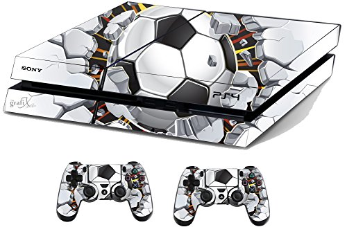 Football Brick Sticker/Skin PS4 Playstation Console & Remote controller stickers, ps4sk16 from the grafix studio