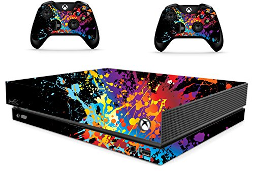 Paint Splat Sticker/Skin xbox one x Console & Remote controller stickers, xbx5 from the grafix studio