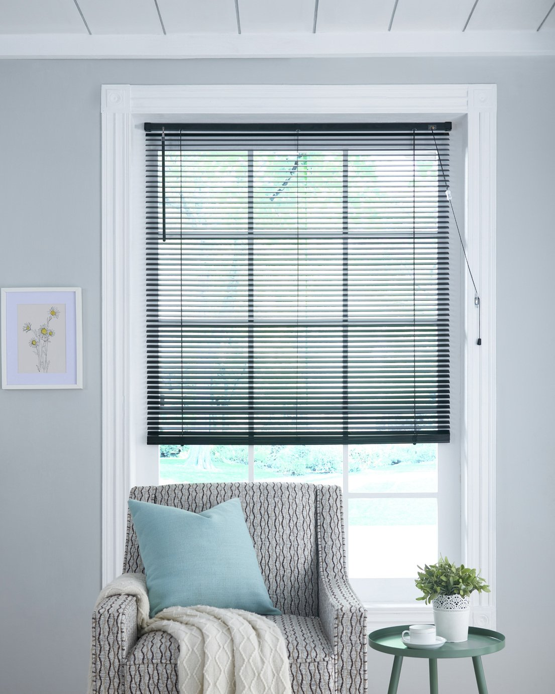 Little Black Book 25mm Venetian Blind - W90xL160cm - Black from The Little Black Book