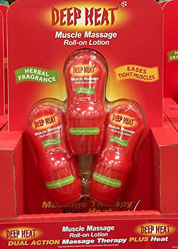 Deep Heat Muscle Massage Roll-On Lotion 50mlx3 from the mentholatum co.ltd