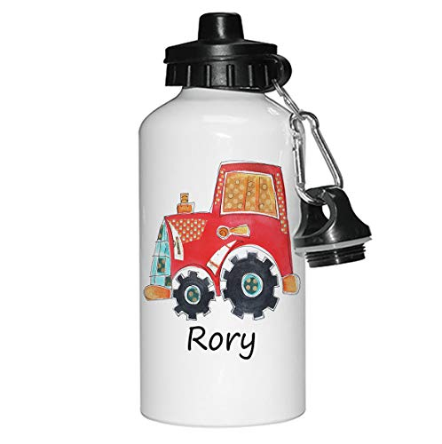 Water Bottle,Kids Drinks bottle,Personalised, Tractor from tigerlilyprints