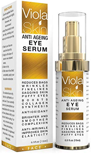 PREMIUM Anti Ageing Eye Serum for Dark Circles & Puffiness - Anti Wrinkle Eye Serum - Reduces Wrinkles, Bags, Saggy Skin & Puffy Eyes! High Quality Ingredients - Q10 - Matrixyl 3000 - Great Eye Treatment For All Types Of Skin. 100% Satisfaction from ViolaSkin