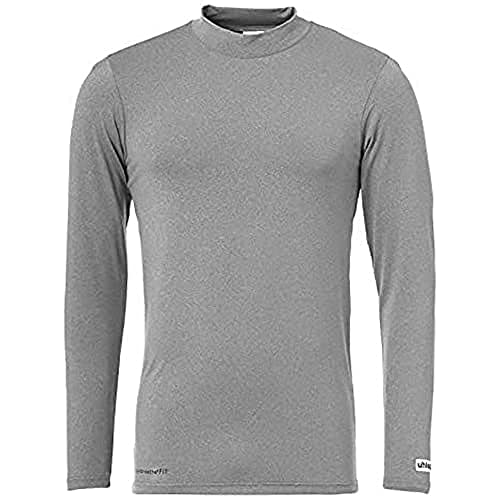 uhlsport Men Distinction Colors Base Layer Shirt Men's Shirt - Dark Grey Melange, XS from uhlsport