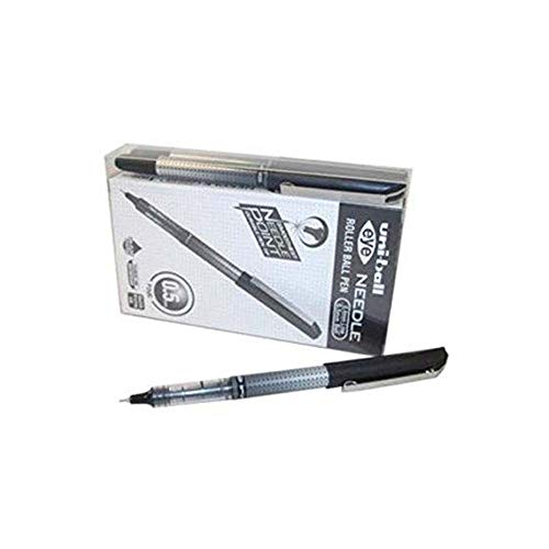 Uni-Ball UB-185S 0.5mm Tip Micro Point Eye Needle Stainless Steel Pen - Black (Pack of 14) from uni-ball