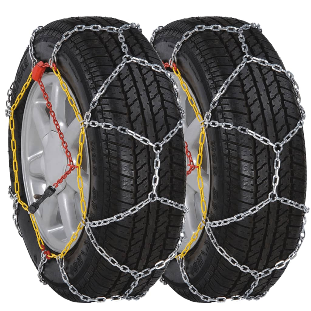vidaXL 2 Car Snow Chains 12mm KN110 235/40-18 225/40-19 235/50-17 215/60-16 from vidaXL